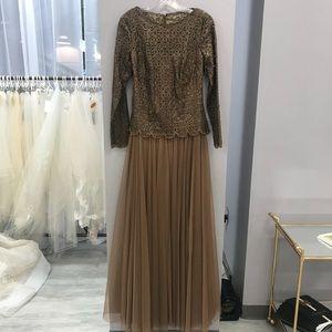 Leather formal dress